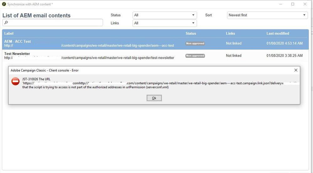 AEM - Campaign Integration Error.JPG