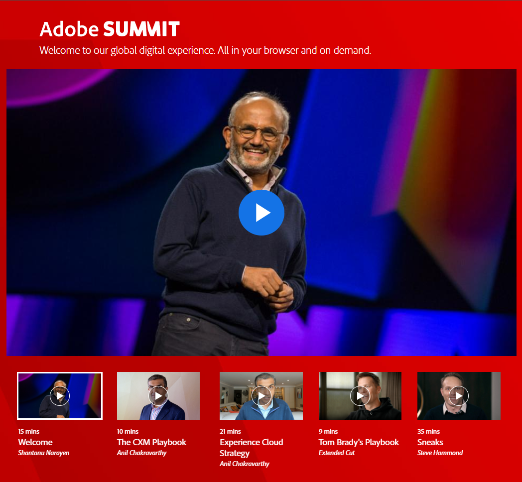 Jantzen_B: Adobe Summit is Live! Let's chat about your favorite parts on the community! -https://t.co/CJkqNwT6BCnn#MarTech… https://t.co/3NK7dNEq7H
