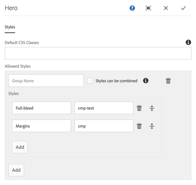 Static template design mode