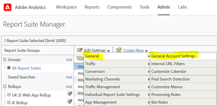 Adobe Report Suite General Settings.png